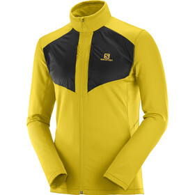 Salomon Grid FZ Midlayer Men lemon curry/black